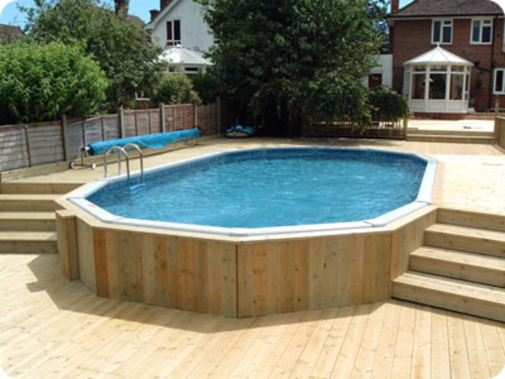 Classic aluminium swimming pool kits for Above ground swimming pools uk