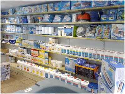 A choice of water treatment products in our shop