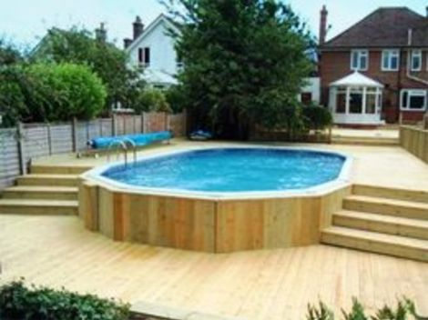 Swimming pools in ground pools above ground pools from for Small garden swimming pools uk
