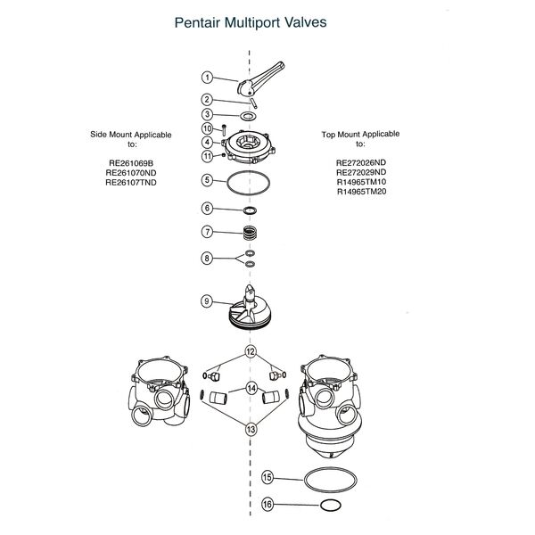 Pentair Multiport Valve Parts